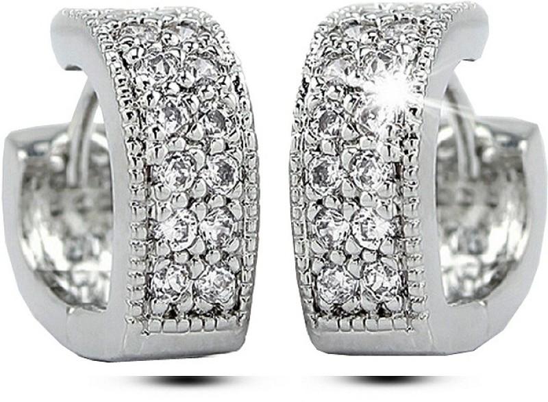 Silver Shoppee My Princess Cubic Zirconia Sterling Silver Huggie Earring