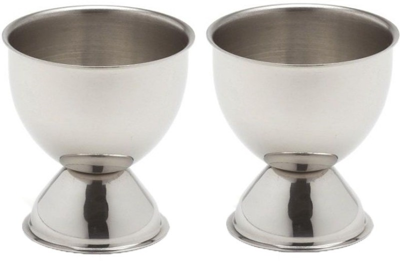 Dynore Set of 2 Cups Large Stainless Steel Egg Separator Set(Steel, Pack of 2)