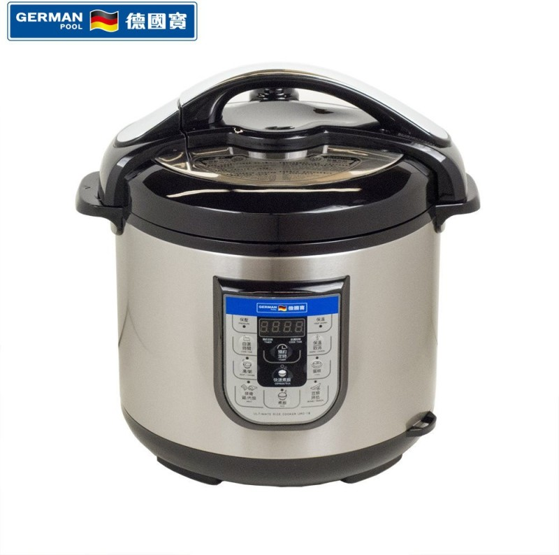 German Pool URC-16 Electric Rice Cooker(6 L, Silver)
