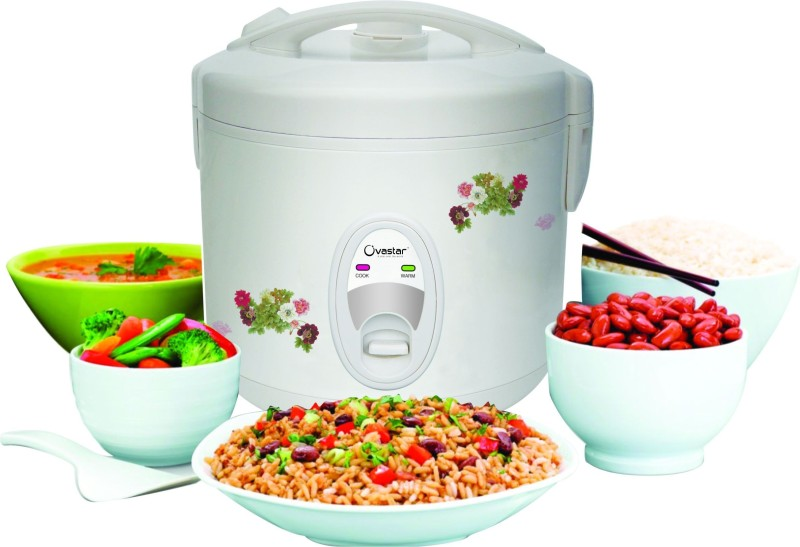 Ovastar OWRC-2040 Electric Rice Cooker with Steaming Feature(1 L, White)