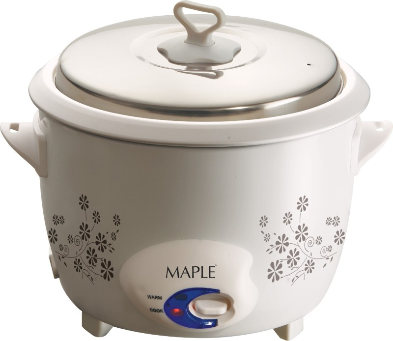 Maple Fiesta 310 watts Electric Rice Cooker(0.8 L, White)