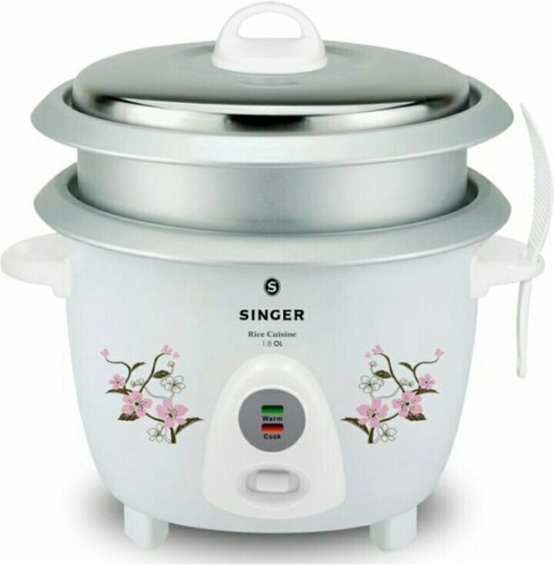 Singer 1.8 CL Electric Rice Cooker(1.8 L, White)