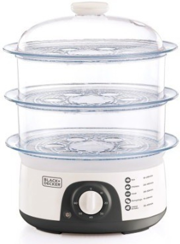 Black & Decker HS6000 Food Steamer(10 L, White)