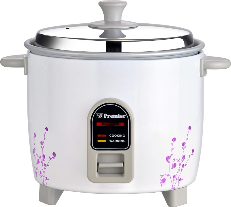 Premier ERC10E Electric Rice Cooker with Steaming Feature(1 L, White)