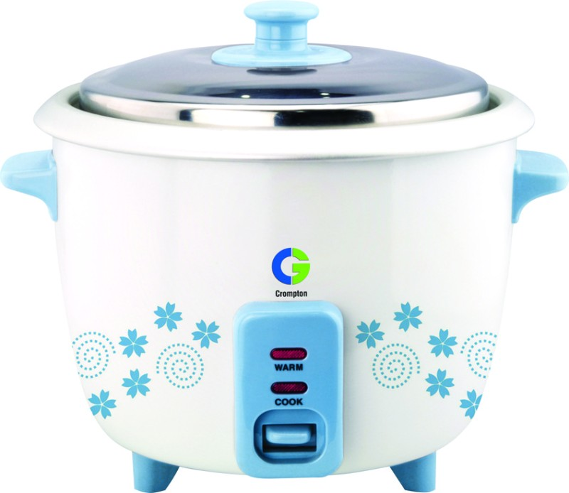 Crompton MRC11 Electric Rice Cooker(1 L, White and blue)