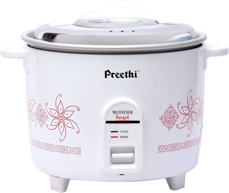Preethi Wonder Rangoli RC 320 A18 Electric Rice Cooker(1.8 L, White)