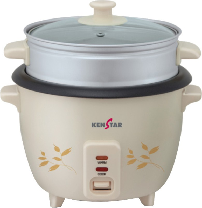 Kenstar KRJ10W4P Electric Rice Cooker with Steaming Feature(1 L)