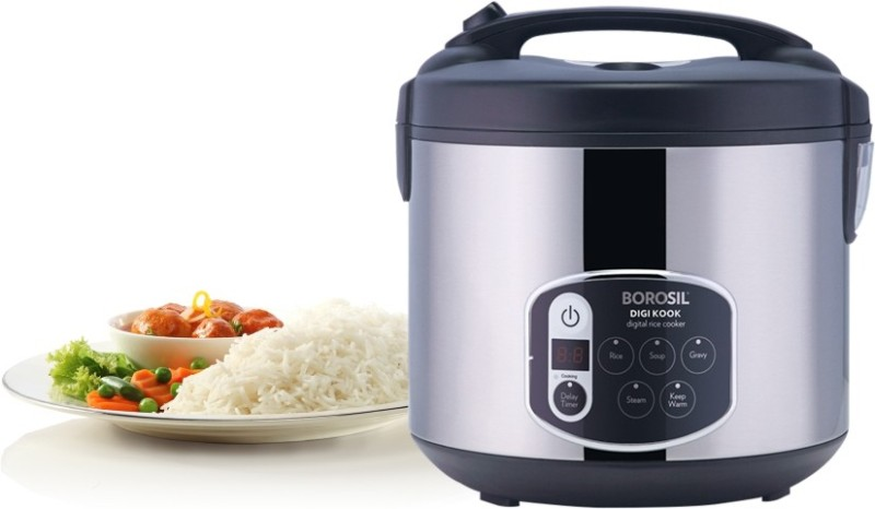 Borosil Digikook Electric Rice Cooker And Steamer 1800ml Electric Rice Cooker(1.8 L)