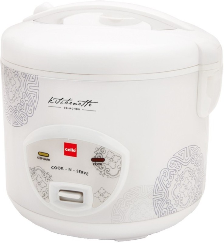 Cello N-Serve Electric Rice Cooker(1.8 L, White)