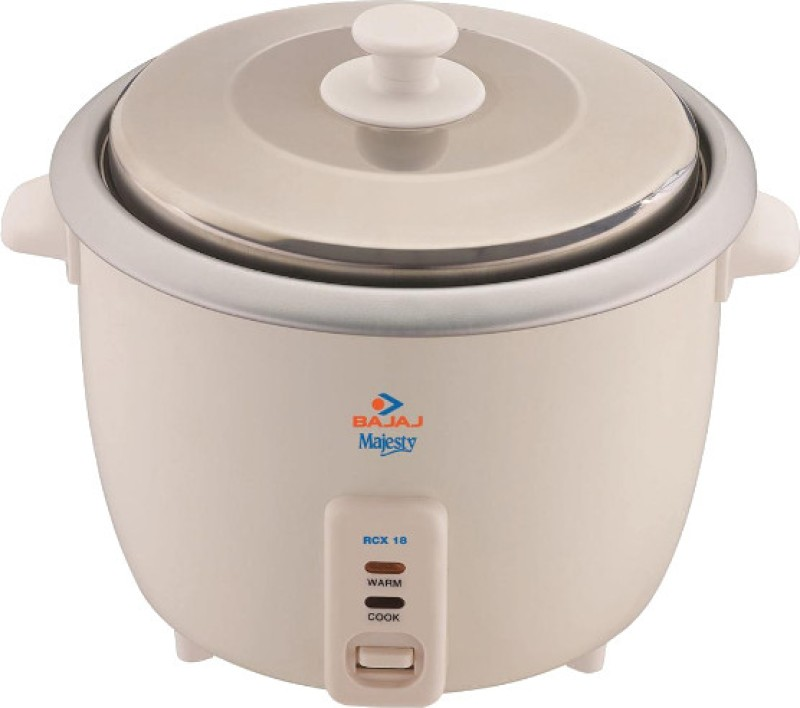 Bajaj Majesty RCX 18 Electric Rice Cooker(1.8 L, White)