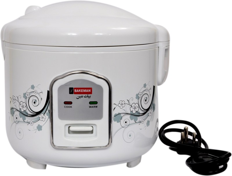 Bakeman BK-RC 1.5 Electric Rice Cooker(1.5 L, White, Pack of 7)