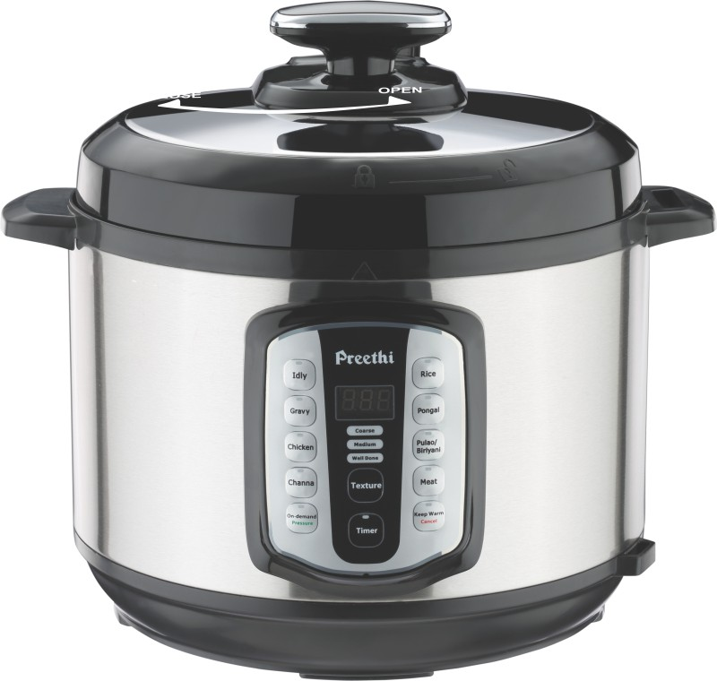 Preethi TOUCH-5.0L Electric Rice Cooker(5 L, Silver)