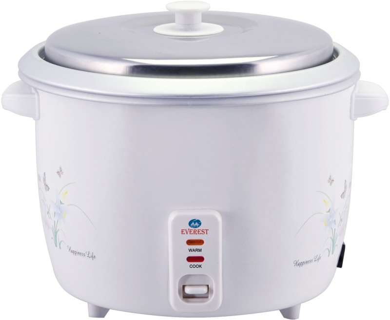 Everest EVD 18 Classic Electric Rice Cooker(1.8 L, White)