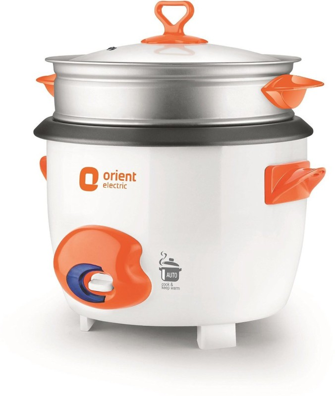 Orient RC1805D Electric Rice Cooker with Steaming Feature(1.8 L, White)