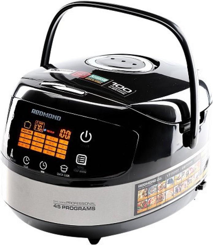 REDMOND RMC-M90E, Digital smart multicooker Rice Cooker, Deep Fryer, Slow Cooker, Food Steamer(5 L, Black)