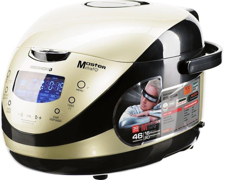 REDMOND RMC-M150E, Digital smart multicooker Rice Cooker, Deep Fryer, Slow Cooker, Food Steamer(5 L, Pearl)