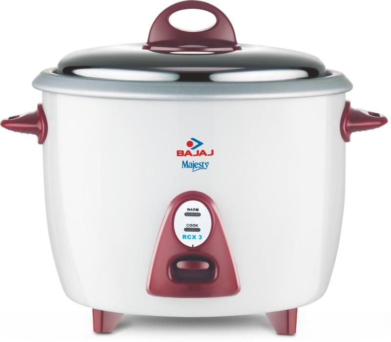 Bajaj Majesty New RCX 3 Electric Rice Cooker(1.5 L, White)