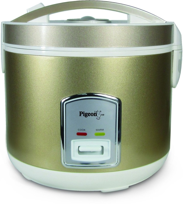 Pigeon glorious 1.8 Electric Rice Cooker with Steaming Feature(1.8 L, Golden)