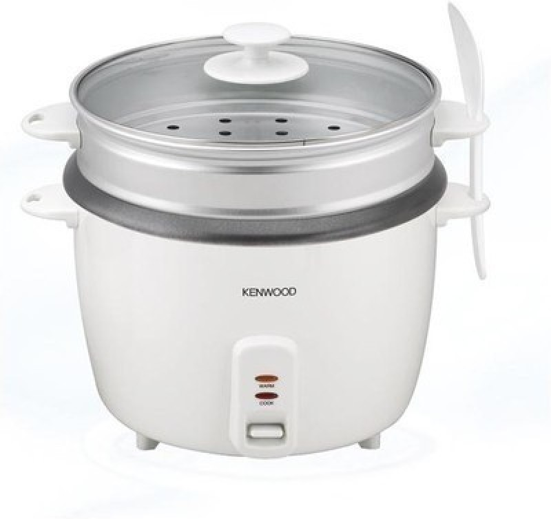 Kenwood RC240 Rice Cooker, Food Steamer, Travel Cooker(0.6 L, White)
