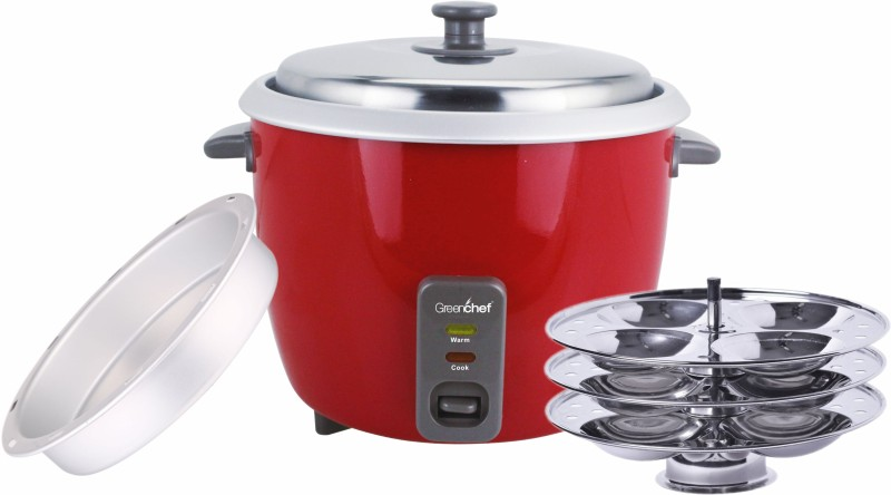 Greenchef CARLO (WITH IDLI STAND & DAL PLATE) Electric Rice Cooker(1.8 L, BURGANDY)