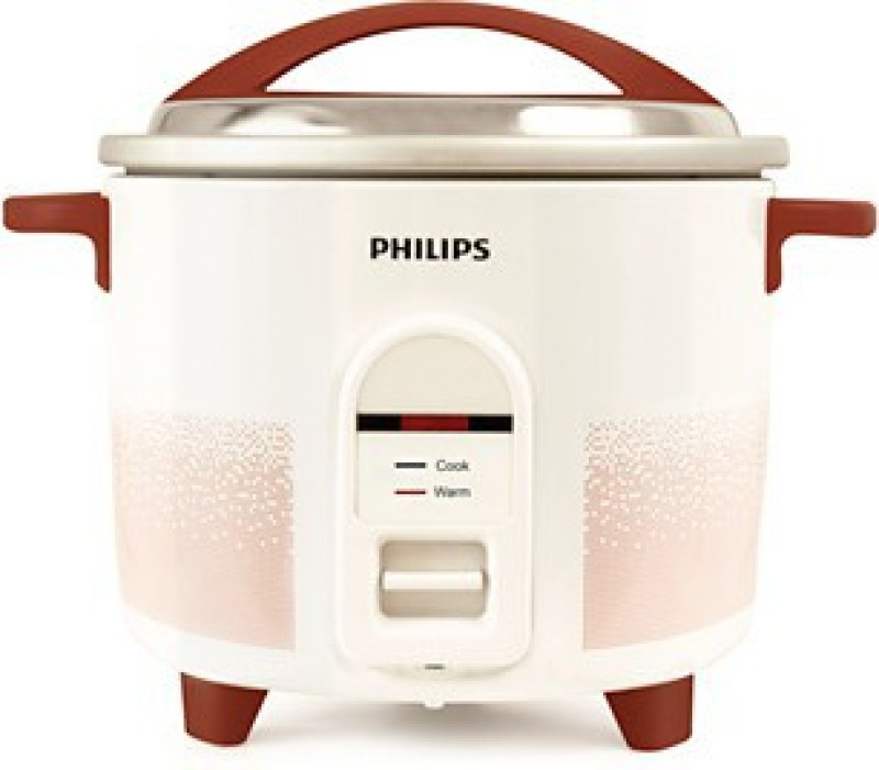 Philips HL1663/00 Electric Rice Cooker(1.8 L, White & pistil red)