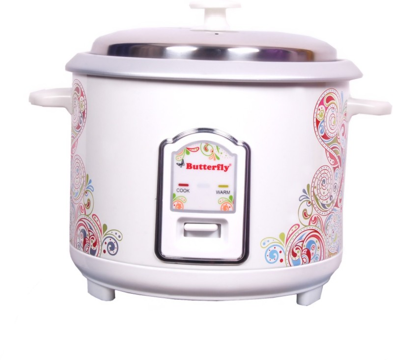 Butterfly Raga Electric Rice Cooker with Steaming Feature(1.8 L, White)