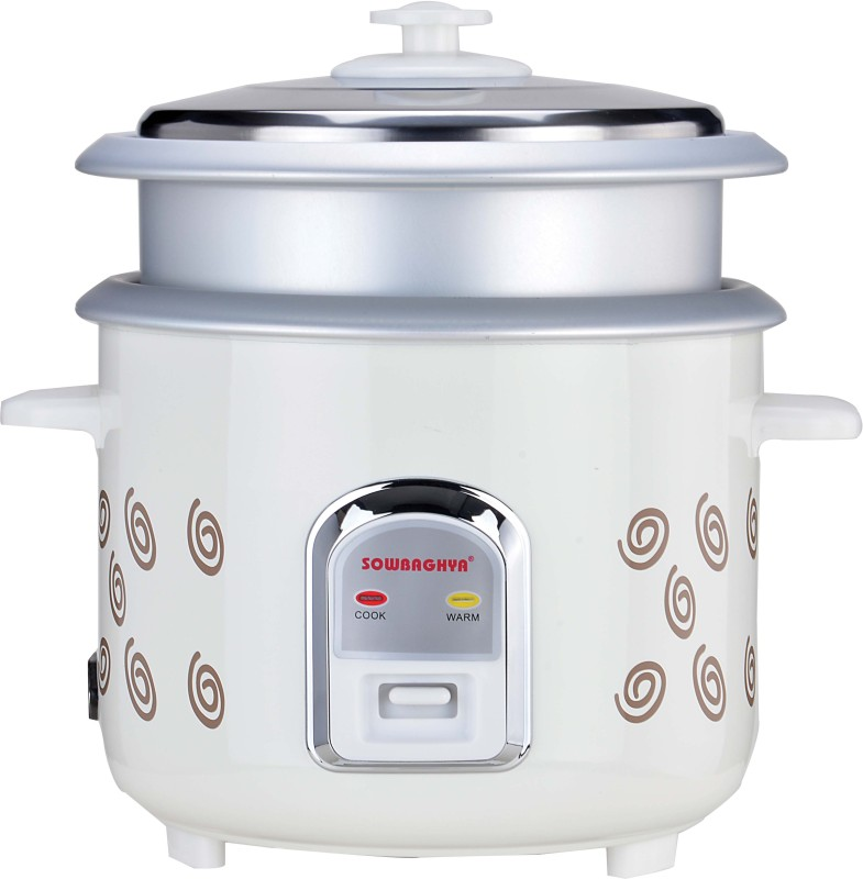 SOWBAGHYA ERC03 Electric Rice Cooker(1.8 L, White)