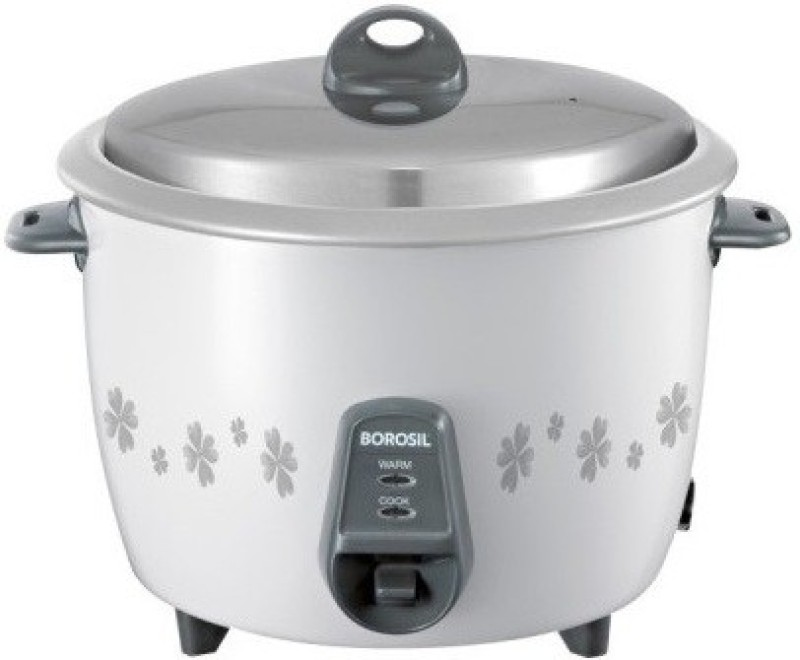 Borosil BRC18MPC21 {Grey and white } Electric Rice Cooker(1.8 L, White)