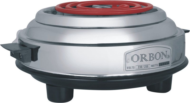 Orbon 1000 Watt G Coil Round Silver Electric Cooking Heater(1...