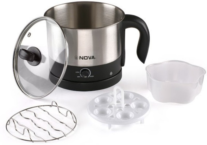 Nova Multifunction NKT-2729 Electric Kettle(1.2 L, Black, Silver)