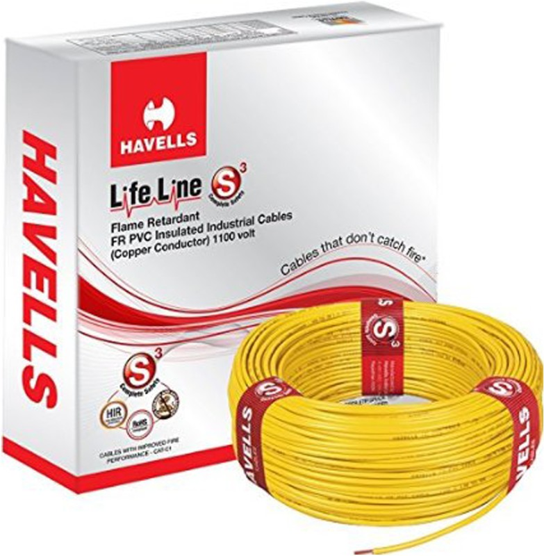 Havells PVC Yellow 90 m Wire(Yellow)
