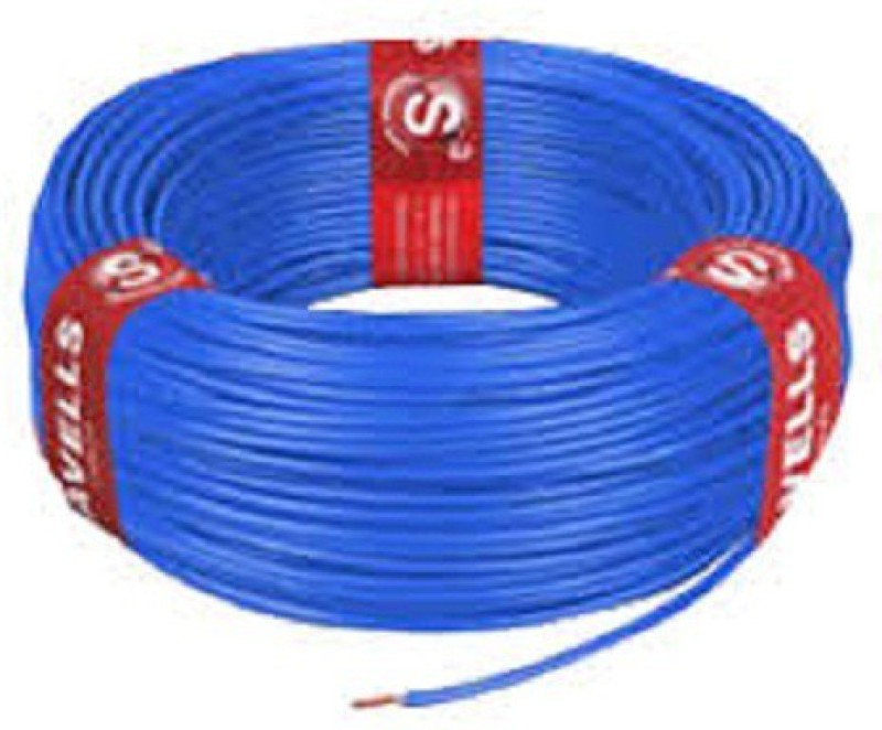 Havells FR PVC, PVC 1 sq/mm Blue 180 m Wire(Blue)