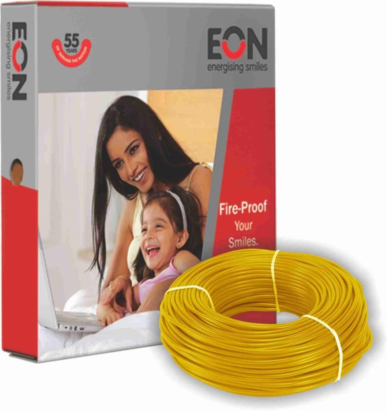 EON FR PVC 1.5 sq/mm Yellow 90 m Wire(Yellow)