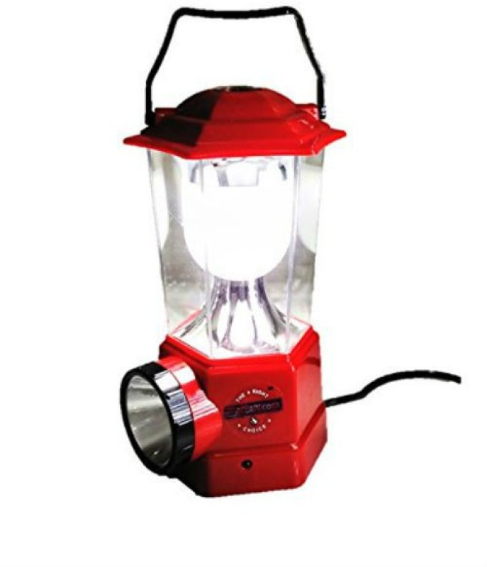Shrih Rechargeable Dual LED Light Source Lantern Emergency Lights(Red)
