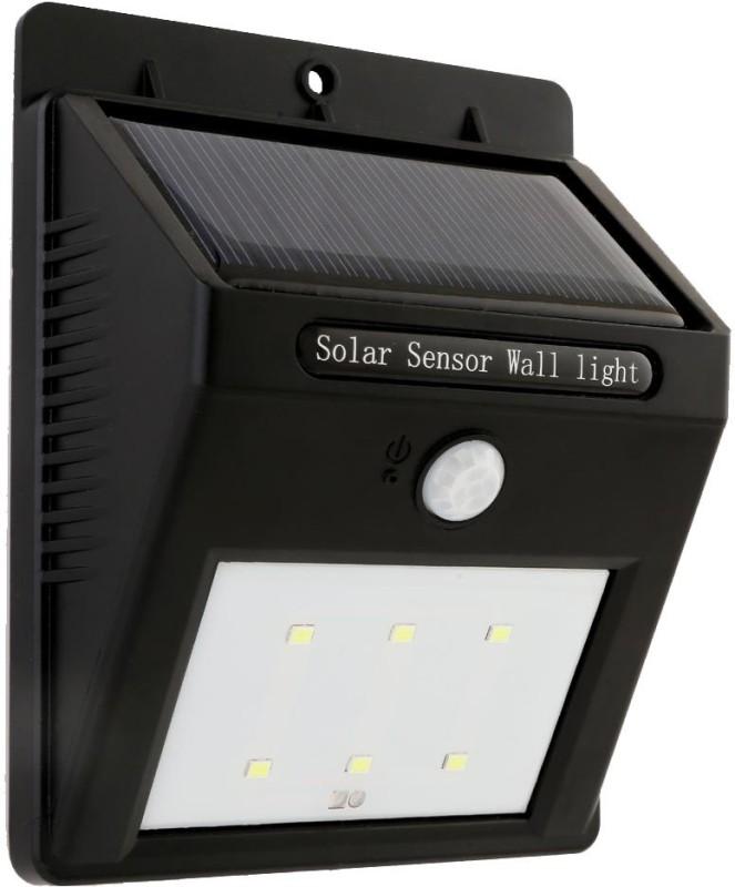 GLiT 6 LED Motion Sensor Solar Lights(Black)