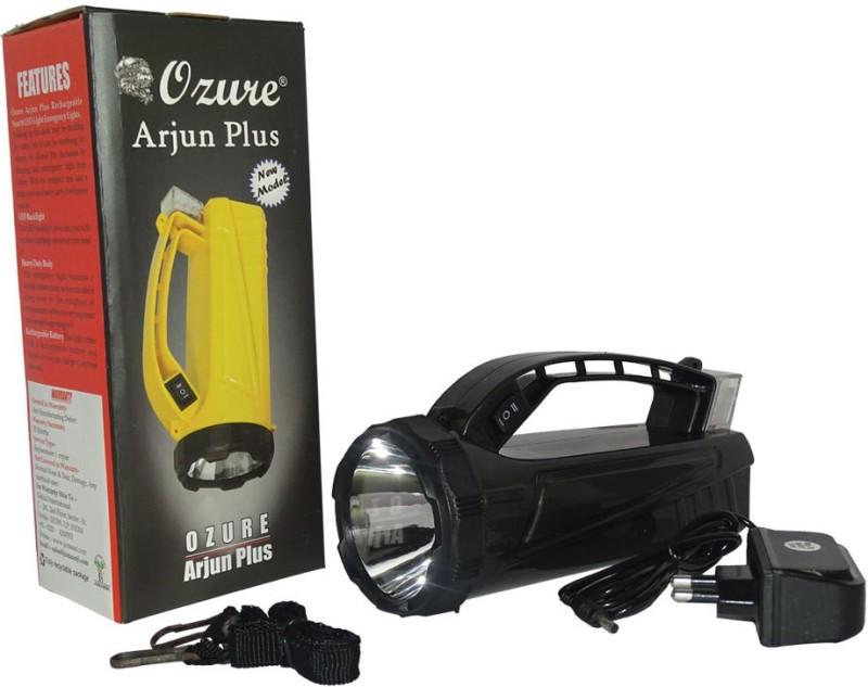 Ozure Arjun Plus Rechargeable Search LED Light Emergency Lights(Black)