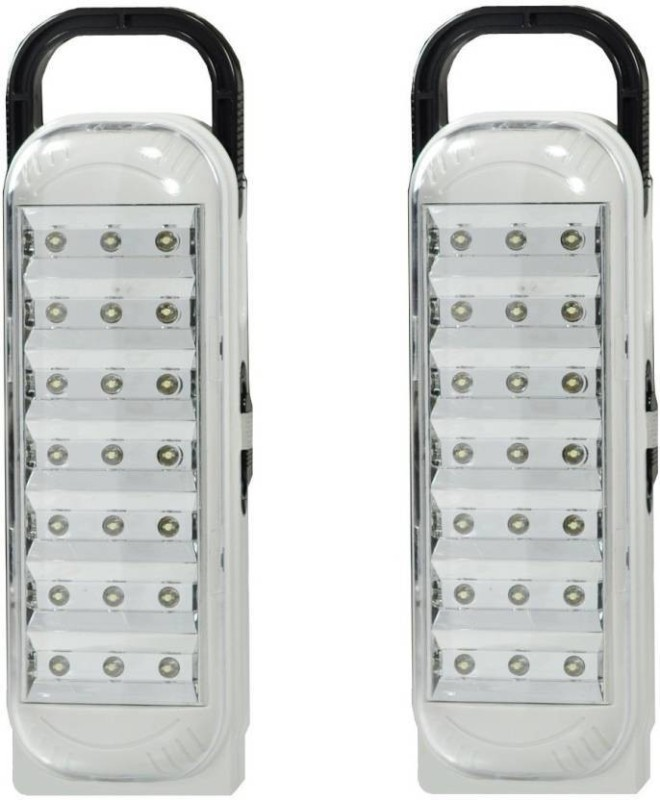 TRISHA (Set of 2) 21 LED rechargeable Emergency Lights(Multicolor)