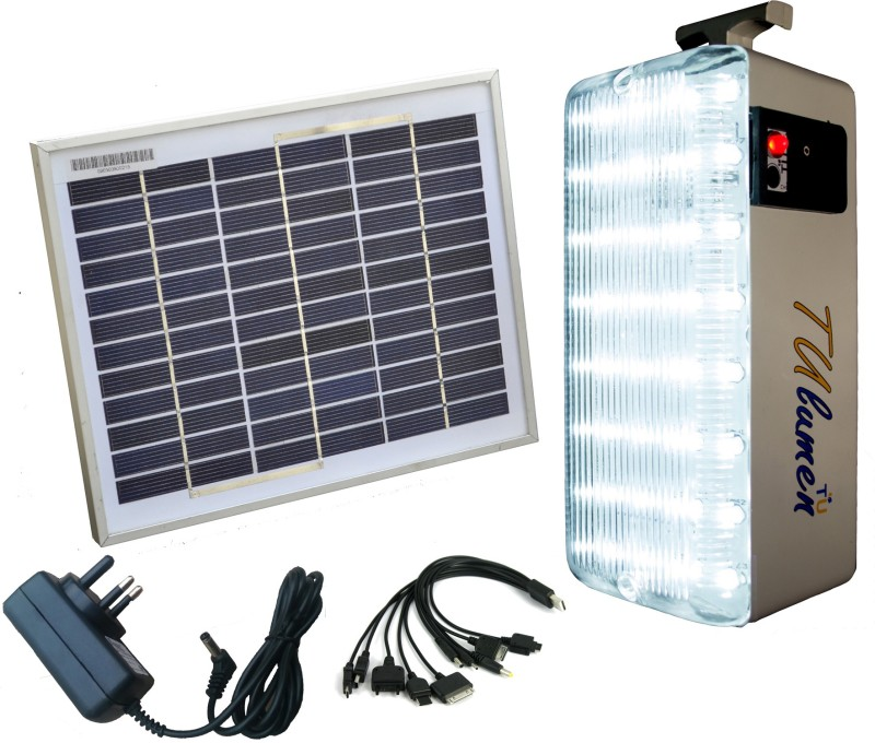 Technology Uncorked Solar Mobile Charger With LED Emergency Lights(White)