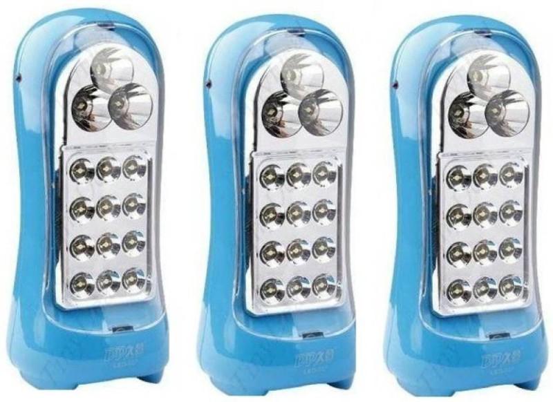 eSnap Set Of 3 DP 12+3 LED multi function Emergency Lights(Multicolor)