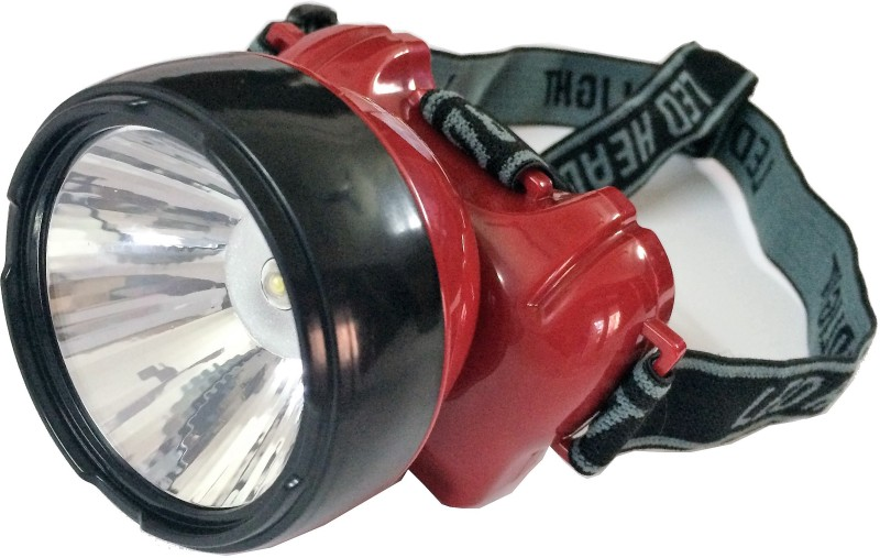 Tuscan Super Bright Rechargeable LED Head Lamp Torches(Red)