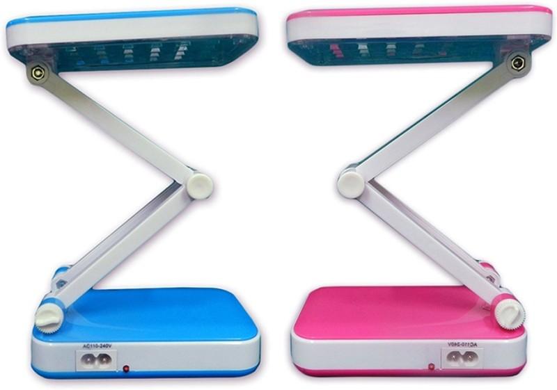 Shop Street Classy Next Generation Rechargeable LED Desk Lamps(Blue, Pink)