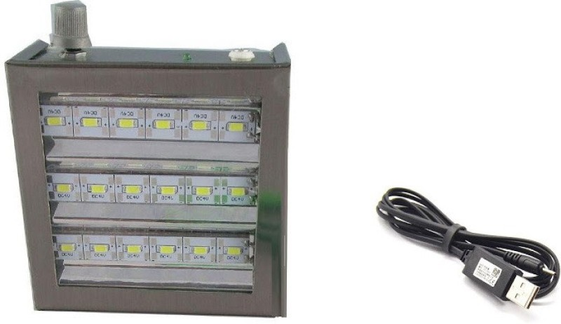 SMA 18 LED Rechargeable Battery 1500 Mah Emergency Lights(Silver)