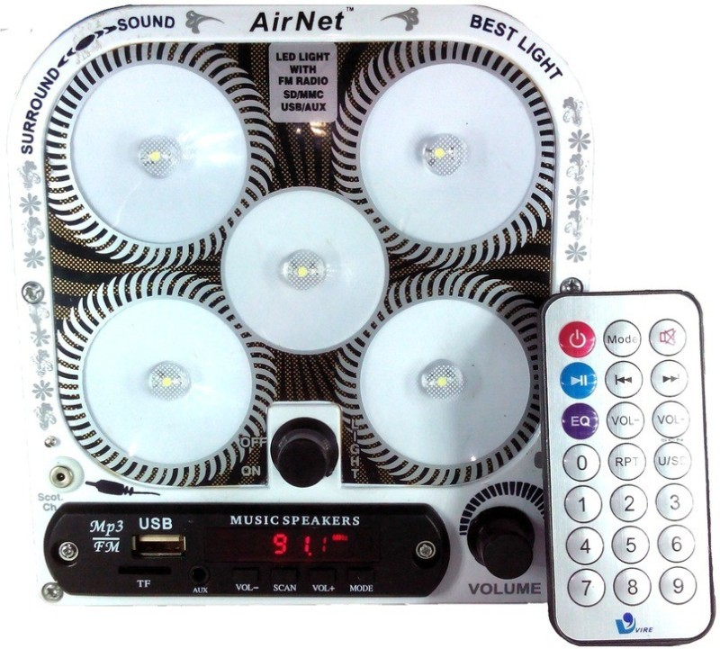 Airnet Classic 5 LED Music Music System Emergency Lights(Blue)
