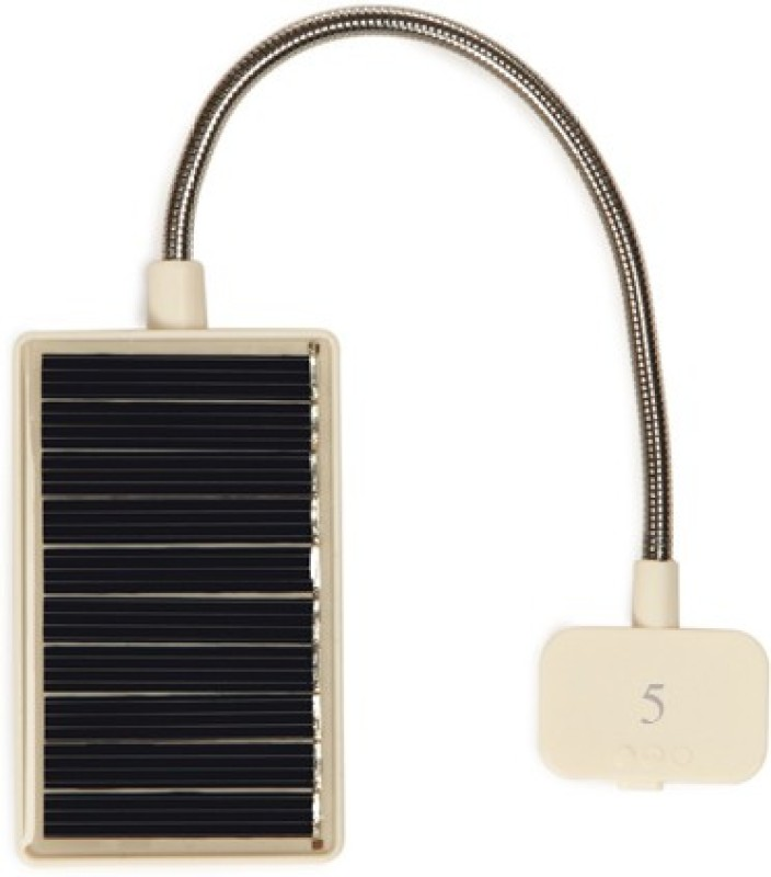 Blau Funf Portable Reading Lamp with LED, Clip and Ultra Flexible Neck Solar Lights(White)