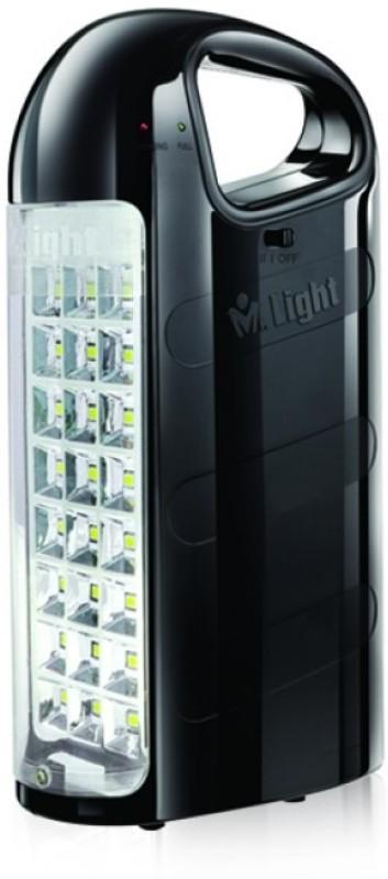 Mr. Light Golden Glow 15 LED Rechargeable 580-V6 with 4-6 Hrs Backup Emergency Lights(Black)