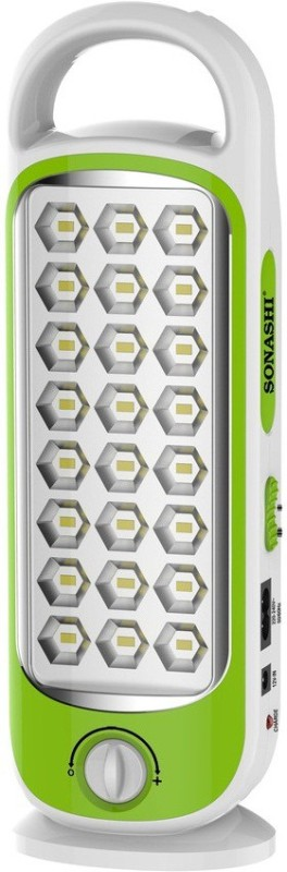 Sonashi 24 LED Rechargeable Valve control and Dual Lighting option Emergency Lights(Green)