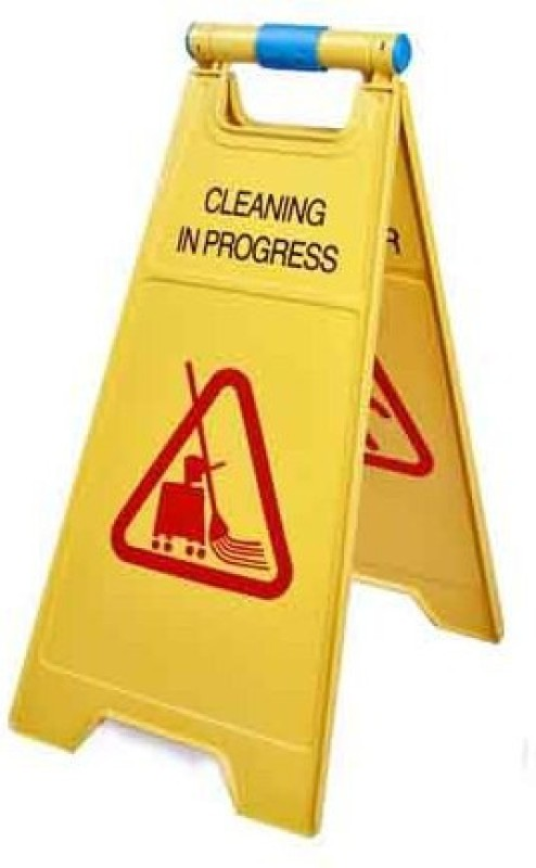 NOVICZ Cleaning in Progress/ Caution Wet Floor Emergency Sign(Reflective Sign)