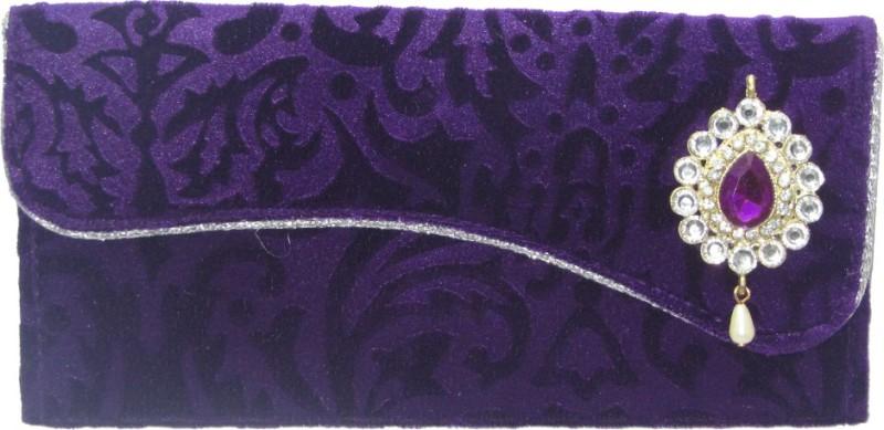 Wedding Pitara Fancy Shagun Velvet Purple Envelopes(Pack of 3 Purple)