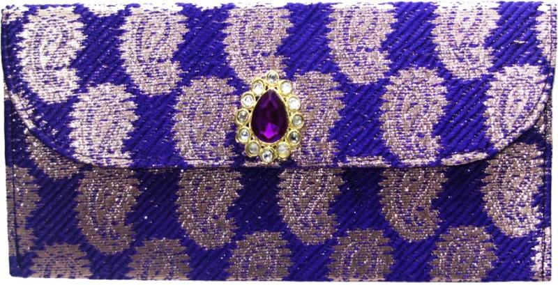 Wedding Pitara Fancy Shagun Brocade Purple Envelopes(Pack of 3 Purple)