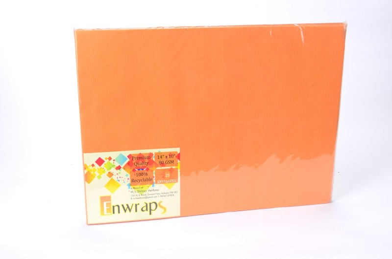 Enwraps Premium 80GSM 14 x 10(inch) Envelopes(Pack of 25 Brown)